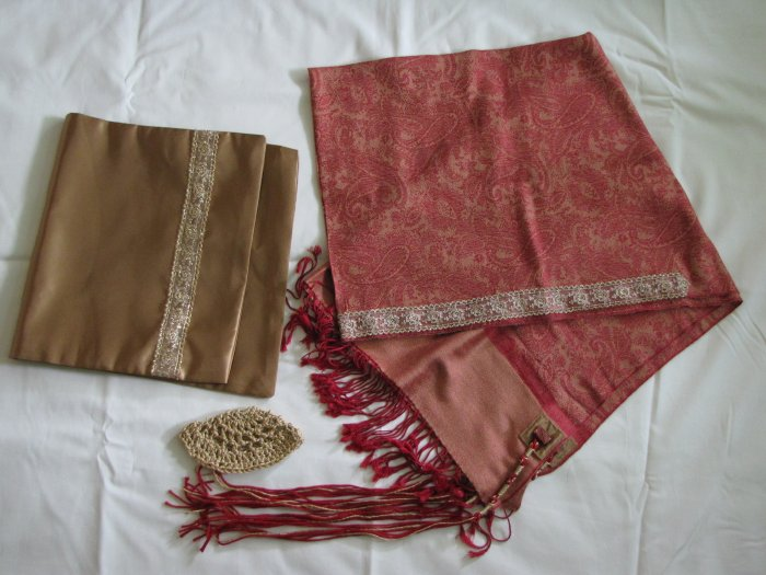 Red & Gold Tallit Set