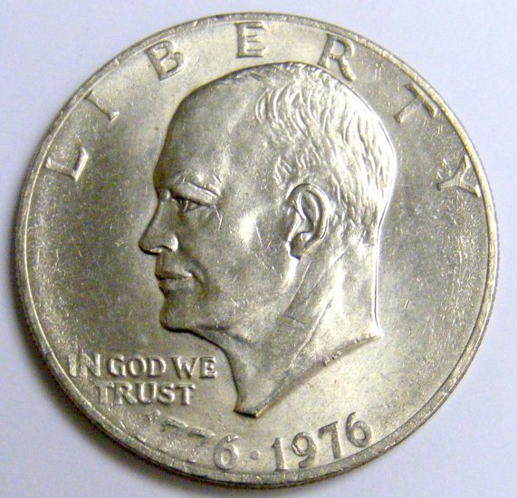 Nice 1776 1976 P Clad Eisenhower Dollar Coin R49,Soy Cheesecake