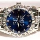 Elegant '50-cent' Bling Styled Mens Watch