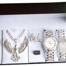 Hip Hop Bling Bling 3pc Watch Sets