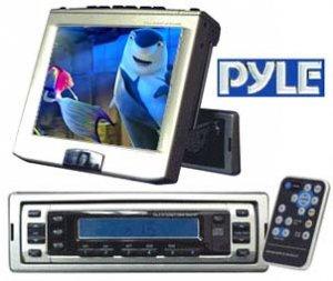 PYLE 6.4 IN MOTORIZED IN-DASH MONITOR W-AM-FM TV TUNER