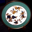 Vintage Noritake Studio Collection Teal & Gold Collector's Plate