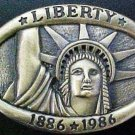 Vintage 1986 Liberty  Commemorative Statue of Liberty Belt Buckle