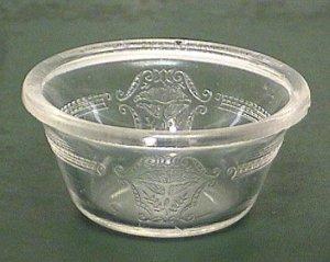 Two Glasbake Embossed Custard Cups 1920