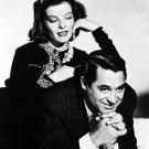 "Glossy Black and White Photo Cary Grant and Katherine Hepburn 4"" x 6"""