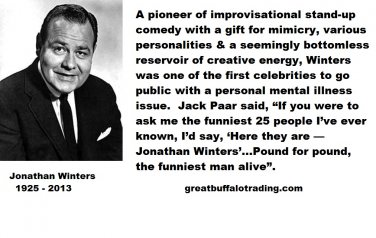 Free Thought For the Day:Jack Paarr on Jonathan Winters Funniest Man
