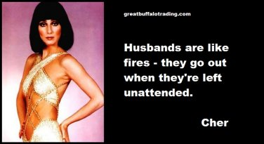 Free Thought For the Day: Cher on Husbands