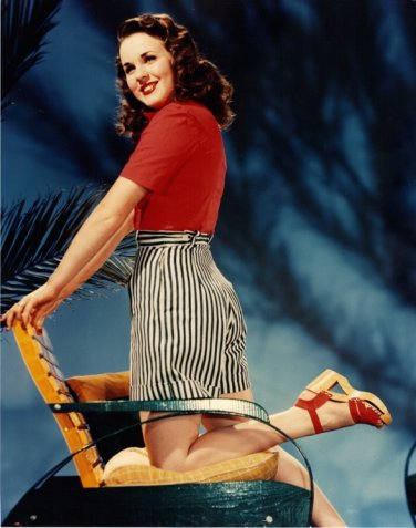 "Color Photo Deanna Durbin in the 1940's 4"" x  6"""