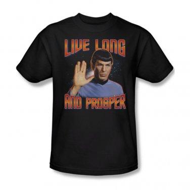 New adult t shirt size medium star trek 39 s spock 39 live long for Adult medium t shirt