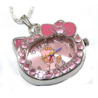 """Hello Kitty"" Pink Crystal Watch"