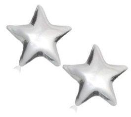 "Sterling Silver ""Star Stud"" Earrings"
