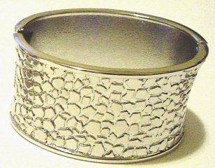 Silver Tone 'Snap-On' Bracelet