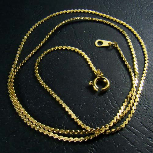 18K Gold Plated Serpentine Flat Twist Chain