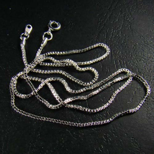 Sterling Silver Plated Venetian Box Chain