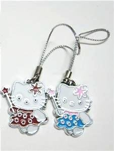 "Hello Kitty ""Fairy"" Cell Phone Charms"