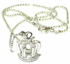 Silver Crown Pendant Necklace