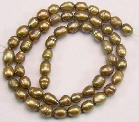 Copper Brown Freshwater Pearls