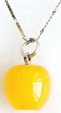 Yellow Jade Apple Necklace