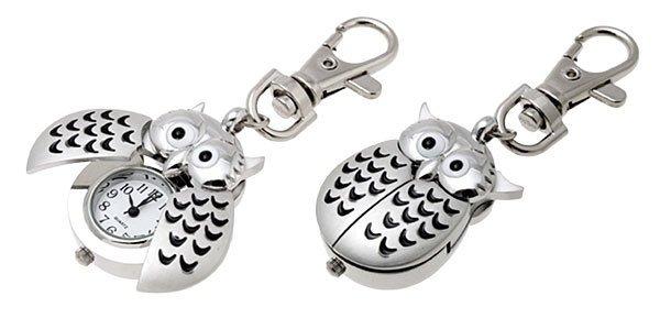 Owl Watch Keychain Clip