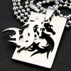 Silver Dragon Pendant Necklace [style1]