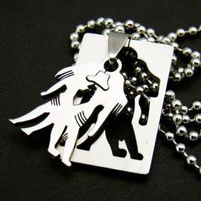 Zodiac Gemini Twins Pendant Necklace