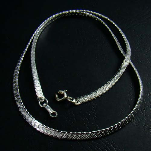 Sterling Silver Plated Mesh Chain