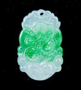 Jade Snake Chinese Zodiac Amulet