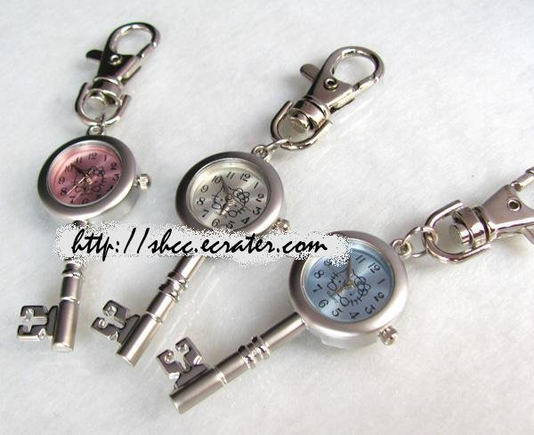 "Set of 3 ""Hello Kitty"" Key Watch Keychains Keyrings"