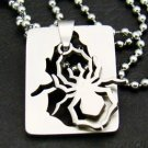 "Silver ""Spider"" Pendant Necklace"
