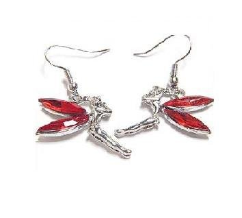Red Tinkerbell Fairy Earrings