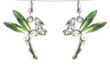 Green Tinkerbell Earrings