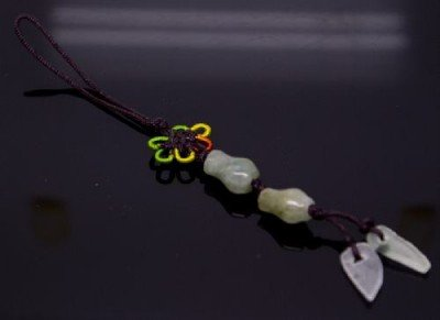 Chinese Knot & Jade Cell Phone Charm [style3]