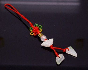 Chinese Knot & Jade Cell Phone Charm [style4]