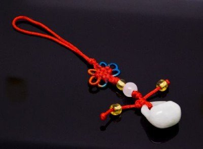 Chinese Knot & Jade Cell Phone Charm [style6]