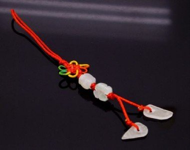 Chinese Knot & Jade Cell Phone Charm [style8]