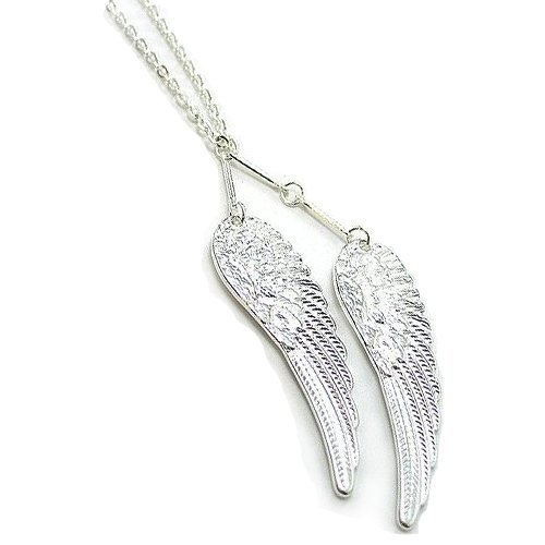 """Silver """"Angel Wing"""" Pendant Necklace [style2]"""