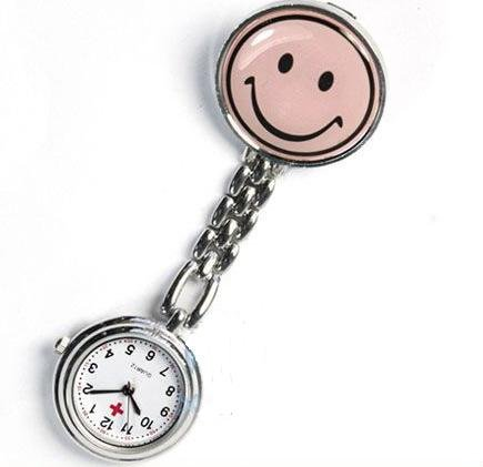 "Smiley Face ""Nurse's Manometer"" Clip On Watch"