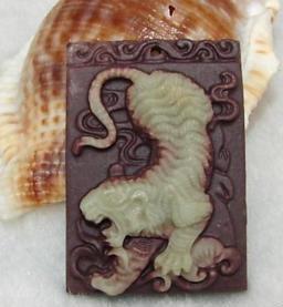 "Jade ""Tiger"" Chinese Zodiac Talisman Amulet"