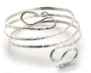 Silver Snake Upper Armband Armring Armlet [style1]