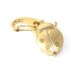 Gold Ladybug Watch Clip Keychain