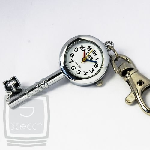Silver Antique Victorian Key Watch Clip