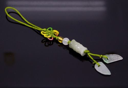 Chinese Knot & Jade Cell Phone Charm [style11]