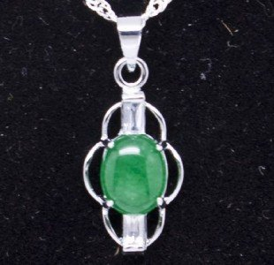 Silver Jade Pendant Necklace [style2]