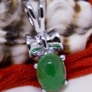 Silver Jade Pendant Necklace [style3]
