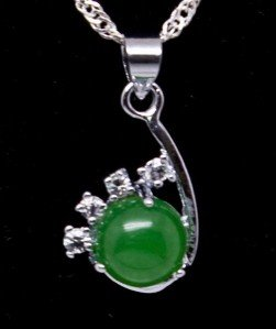 Silver Jade Crystal Pendant Necklace [style4]