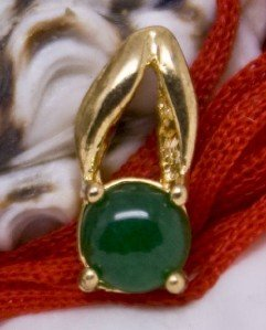 18K Gold Jade Pendant Necklace [style1]