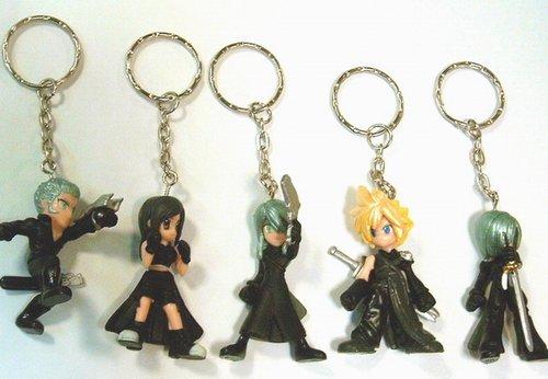 """""""Final Fantasy VII: Advent Children"""" 5 piece keychain set"""