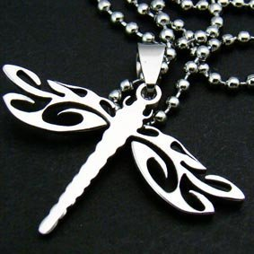"Silver ""Dragonfly"" Pendant Necklace"