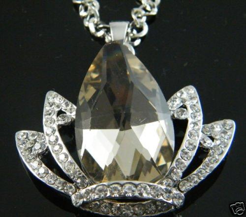 Swarovski Crystal Crown Pendant Necklace