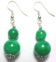 Genuine Green Jade Earrings [style2]